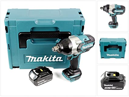 Makita DTW 1001 F1j 18 V atornillador de impacto (batería de ion de ...