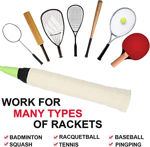 Details about  /LN/_ Badminton Tennis Racket Overgrip Anti-skid Sweat Absorbed Handle Grip Tape