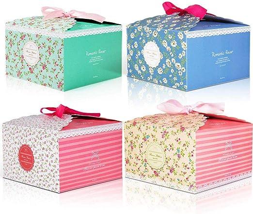 8 piezas Cajas para Regalo, Cajas Galletas, Caja de dulces Caja de papel de galletas,cajas decorativas para Aniversario Boda Fiesta Comunion Navidad San Valentín Año Nuevo: Amazon.es: Hogar