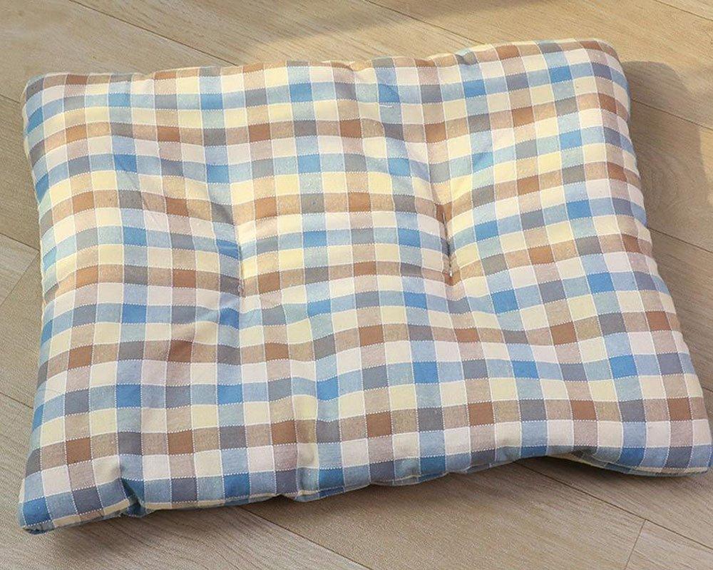 B 75x60cm B 75x60cm Desti Flakes Pet Bolster Dog Bed Comfort Cat Mat Dog mat (color   B, Size   75x60cm)