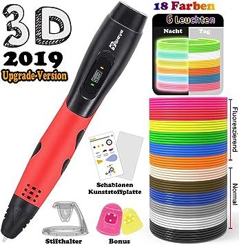 Tipeye - Lápices 3D para niños con Pantalla LCD, lápiz 3D con ...