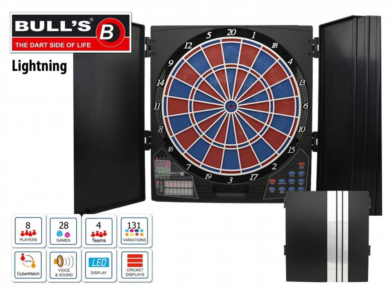 Embassy-Sports 67984 - Bull's E-Dart-Cabinet Lightning Zweiloch, Sportspielzeug