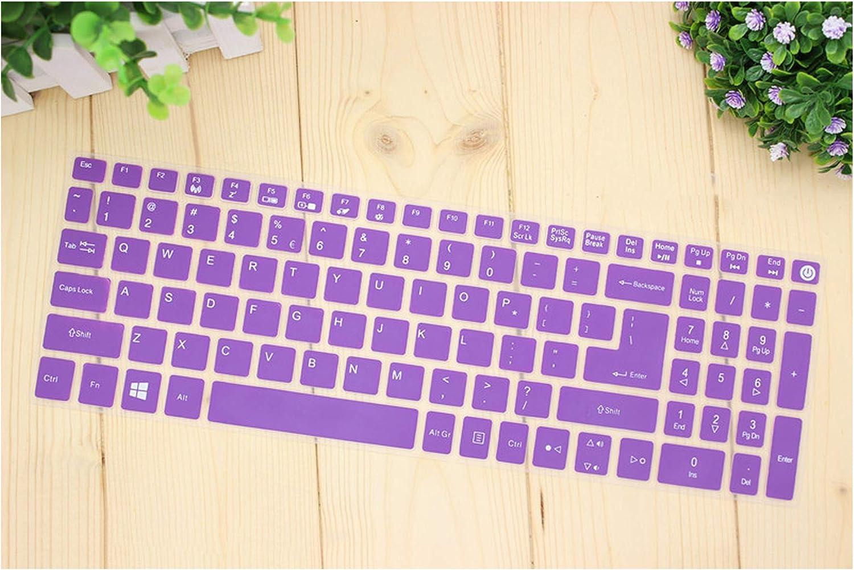 15.6 Inch Keyboard Cover Protector for Acer Aspire E15 E 15 E5 576 E5576 V3 V15 E5 553G/575G/Aspire 3 5 7 Serie,Purple