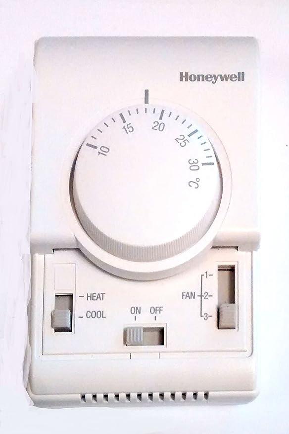 HONEYWELL Termostato XE-70, fan-coil a 2 tubos T6371B1017; Sólo control de ventilador; Invierno/Verano