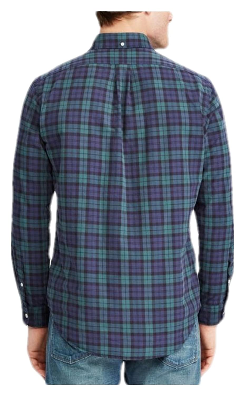 771e4d2a RALPH LAUREN Polo Men's Iconic Plaid Slim Fit Cotton Long Sleeve ...