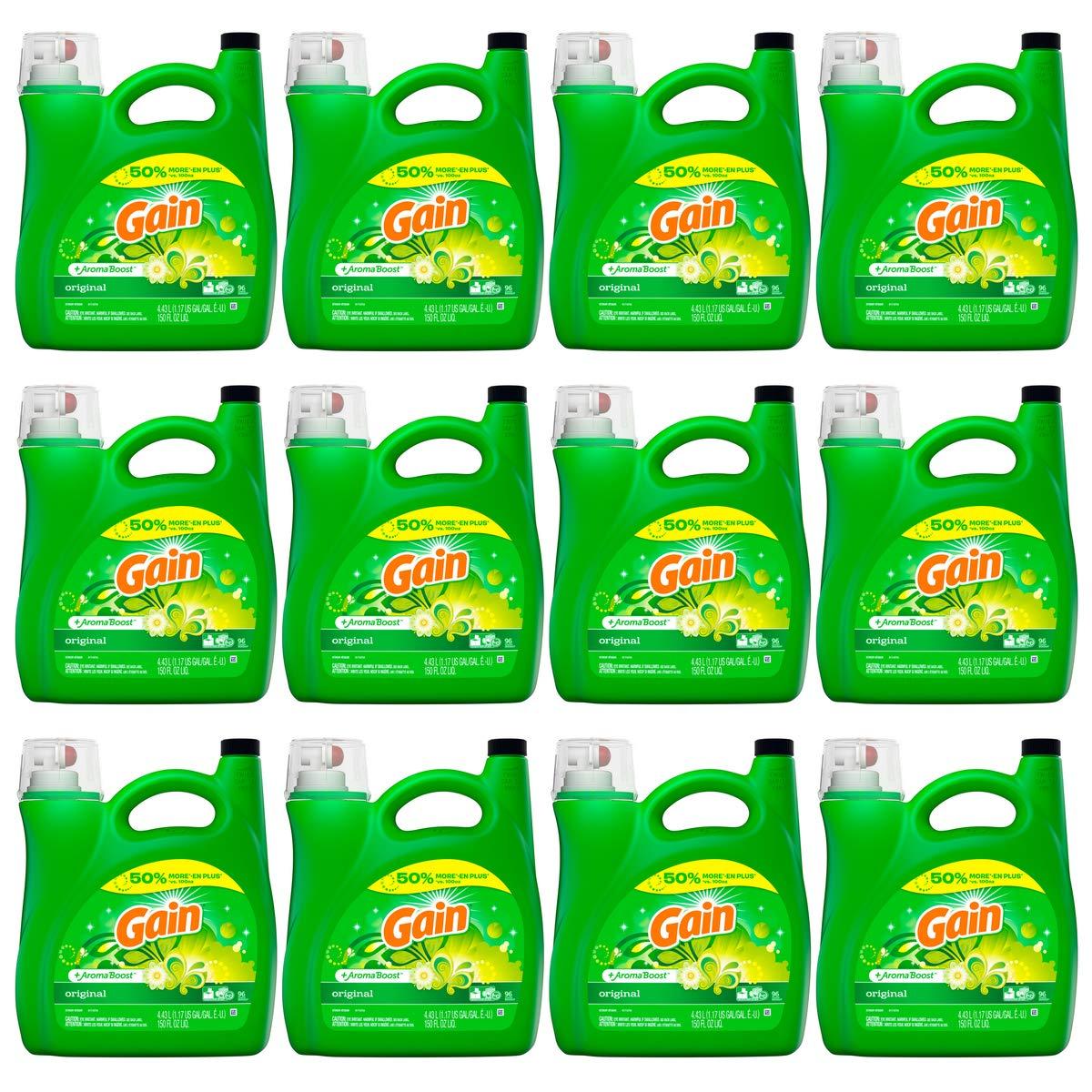 Gain Aroma Boost 洗濯洗剤 液体 オリジナル 96個 12オンス 150液量オンス B07GNR95TK