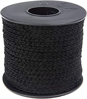 product image for Atwood Rope MFG 1/4 21.6 Yards / 65 feet Black Round Sewing Elastic | Elastic Cord for Sewing | Braided Elastic | Elastic for Masks | Tela para Mascarillas (1/4)