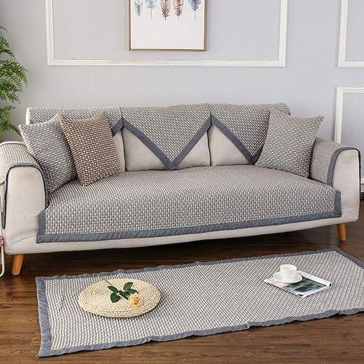 Funda de sofá Antideslizante de Lino Seasons, para Cubrir el ...
