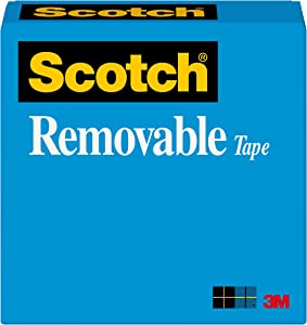 Scotch Brand Removable Tape, Invisible, Photo-Safe, Engineered for Office and Home Use, 3/4 x 2592 Inches, 3 Inch Core, Boxed, 1 Roll (811)
