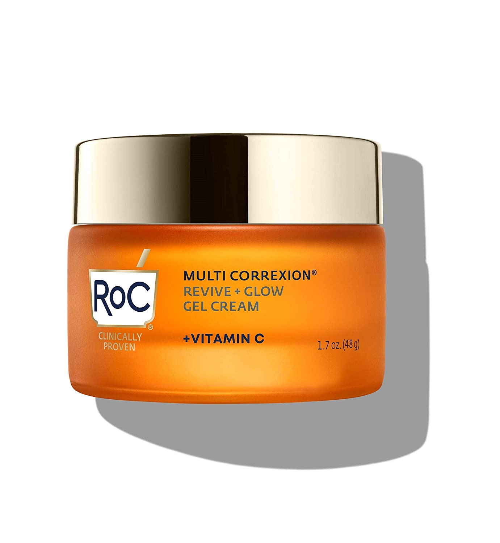 RoC Multi Correxion Revive + Glow Vitamin C Moisturizer for Face, 1.7 Ounce Gel Cream