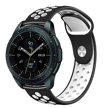 Hagibis Correas Compatible con Samsung Galaxy Watch 42mm / Samsung Gear Sport/Samsung Galaxy Watch Active/Huawei Watch 2,20mm Reemplazo Ajustable ...