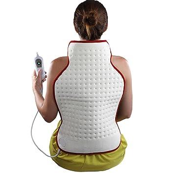 Manta eléctrica para la espalda (100 W, 3 niveles, 62 x 41 cm, lavable, protección contra sobrecalentamiento, suave fieltro): Amazon.es: Salud y cuidado ...