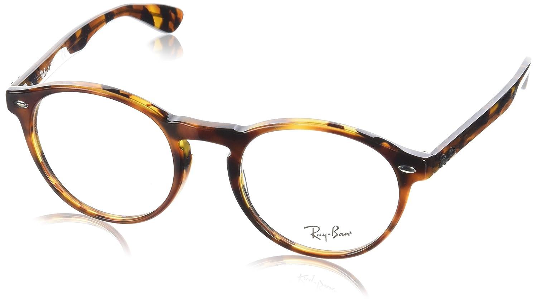 Ray-Ban 0Rx5283, Monturas de Gafas para Hombre, Top Havana Brown/Yellow, 51