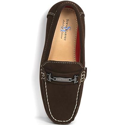 e1665484a95 ... Brown Steve Harvey Nolan Boys Designer Fashion Sharp   Adorable Vegan  Faux Suede Loafers Drivers