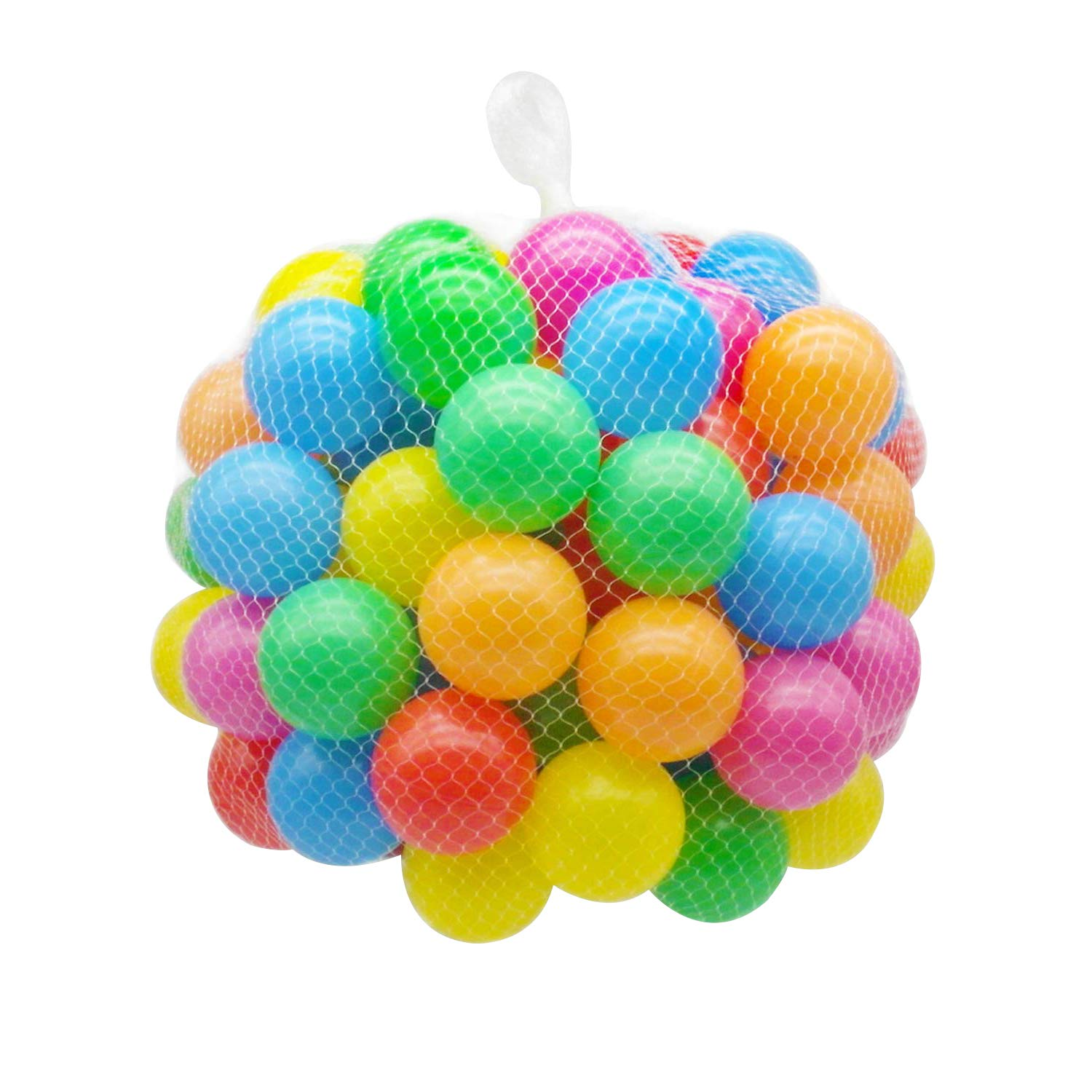 Binwwede Kids Ocean Ball 5 Colors Toddler Baby Ball Pit Pack of 100 Plastic Play Balls (20pcs)