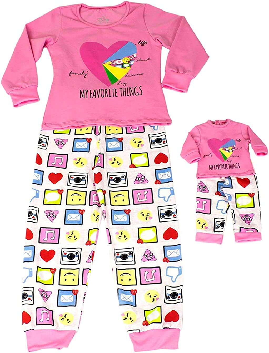 "18/"" doll clothes-fits American Girl Boy  My Life-Pajamas-Flannel-Small Owl"