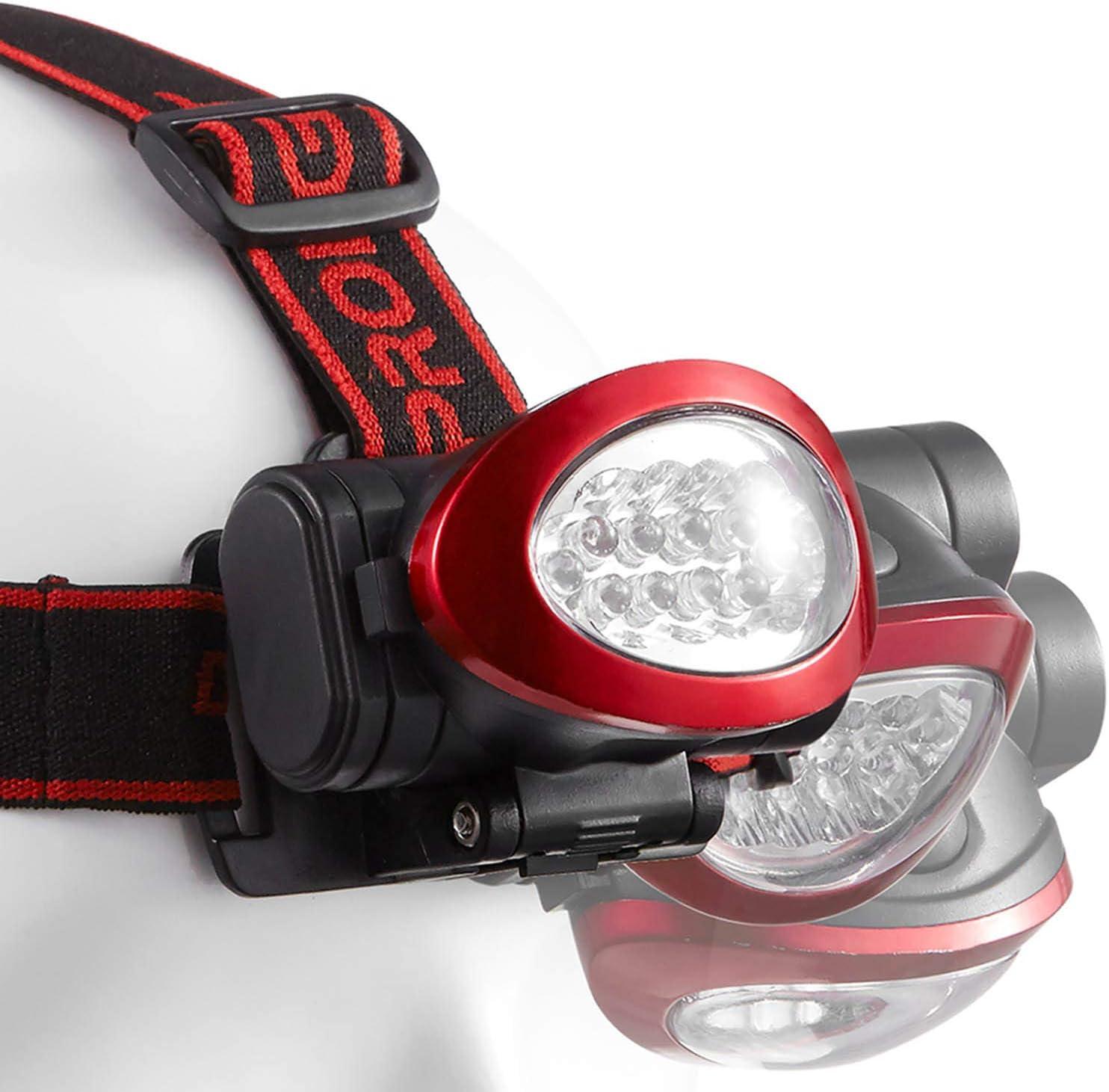 Dekton Pathfinder DEL Torche Tête projecteur 55 LM 10 m gamme /& Batteries