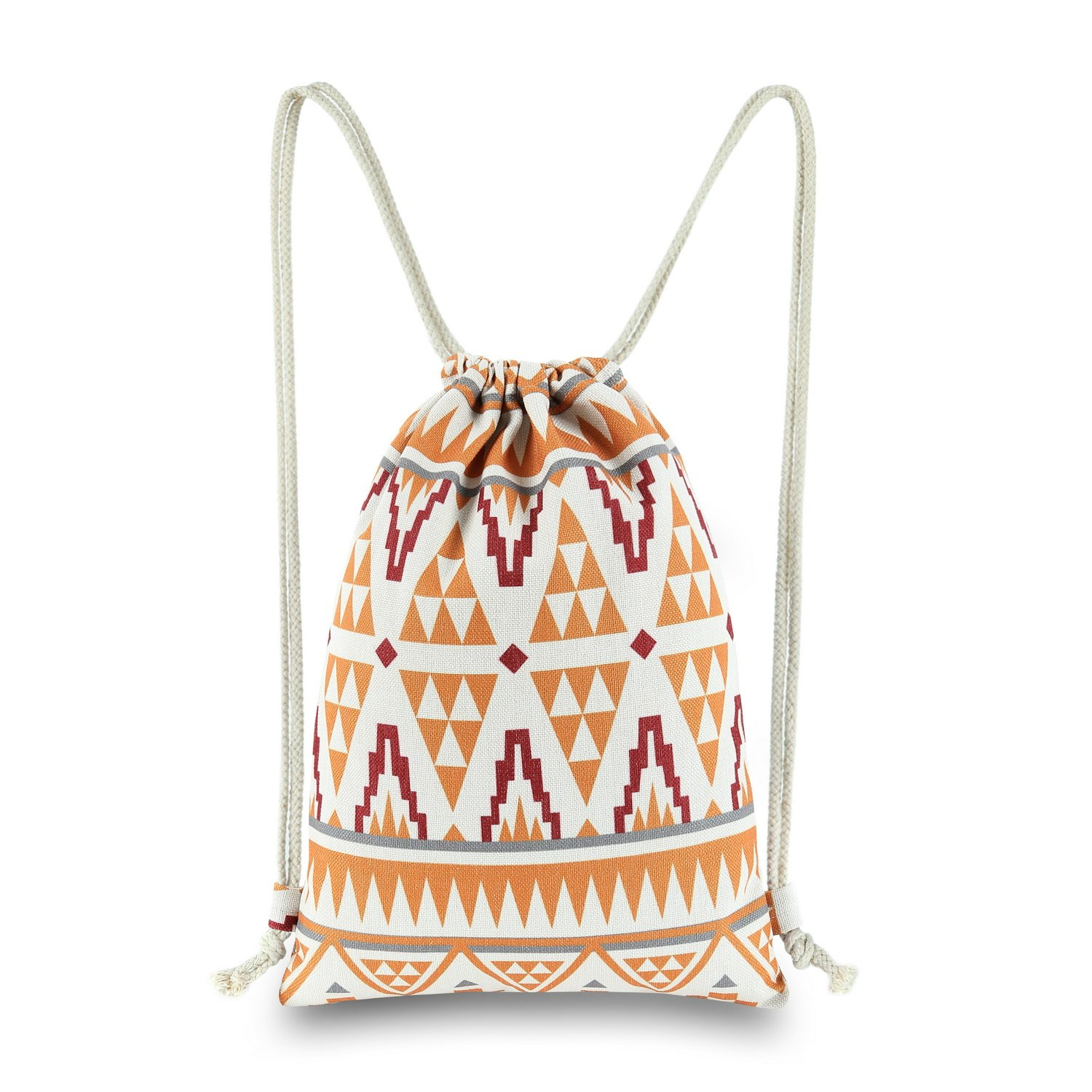50%OFF Miomao Drawstring Bag String Backpack Canvas Gym Sackpack with  Pockets, Southwest Geometric b9b7bbfb61