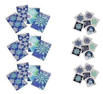 156 divertidos recuerdos de copos de nieve/invierno – 12 mini ...