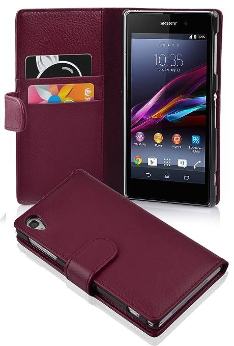 11 opinioni per Cadorabo- Custodia Book Style Design Portafoglio per Sony Xperia Z1 con Vani di