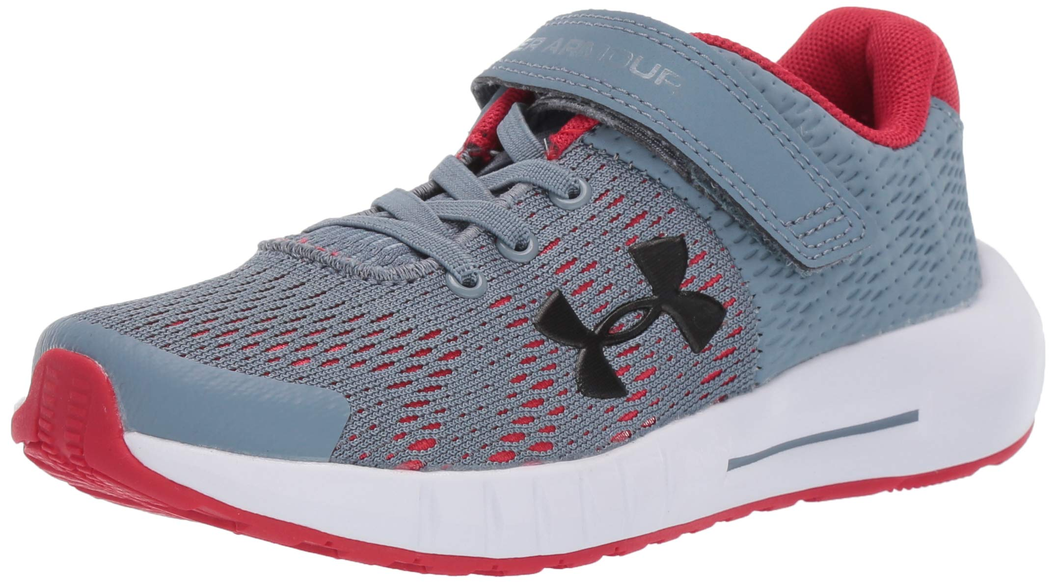 Under Armour Kids' Pre School Pursuit BP Alternate Closure Sneaker, Ash Gray (402)/White, 3