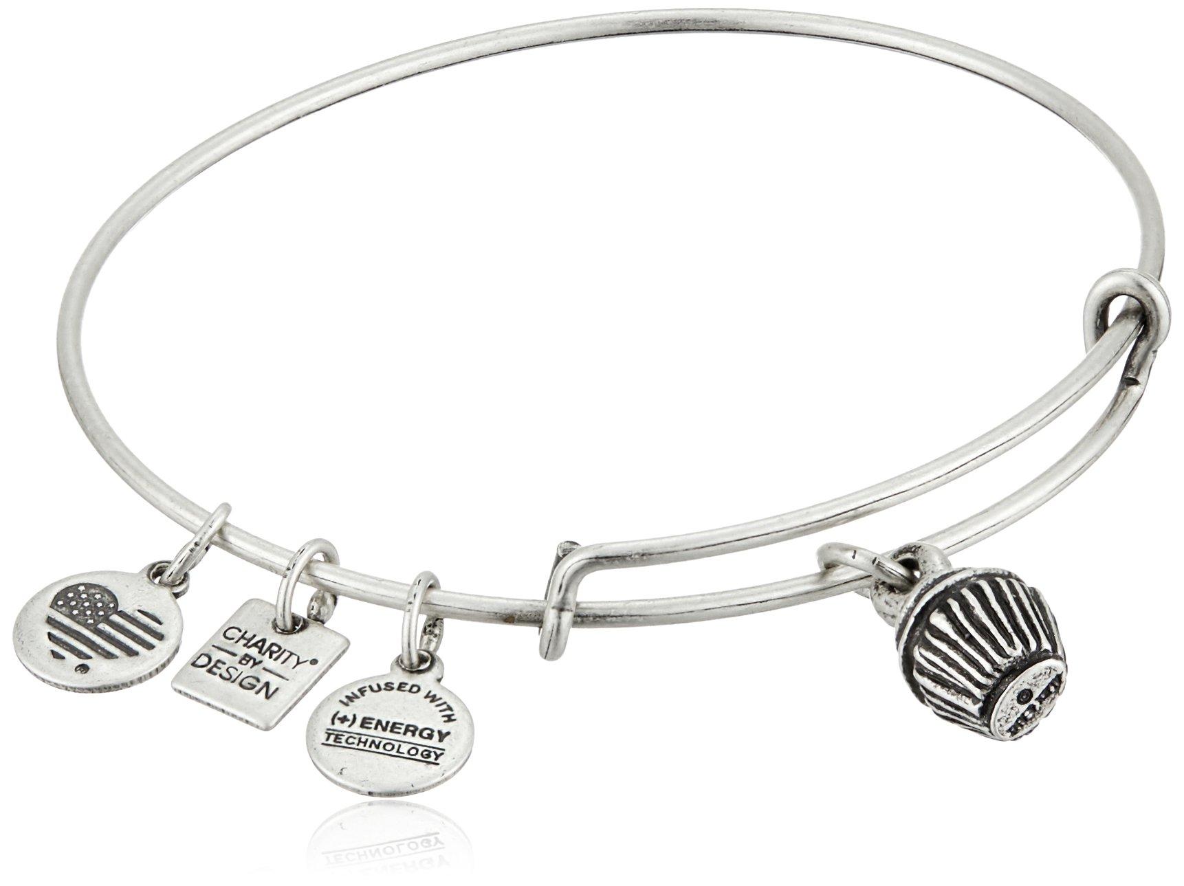 Alex and Ani Charity By Design Cupcake Rafaelian Silver Bangle Bracelet