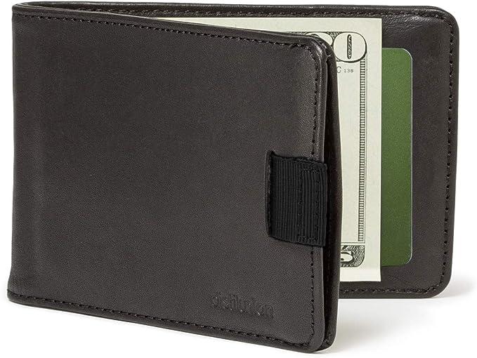 Distil Union Slim Wallets for Men with FlexLockTM - Minimalist Bifold Wallets with Money Clip (Ink with RFID Shielding)