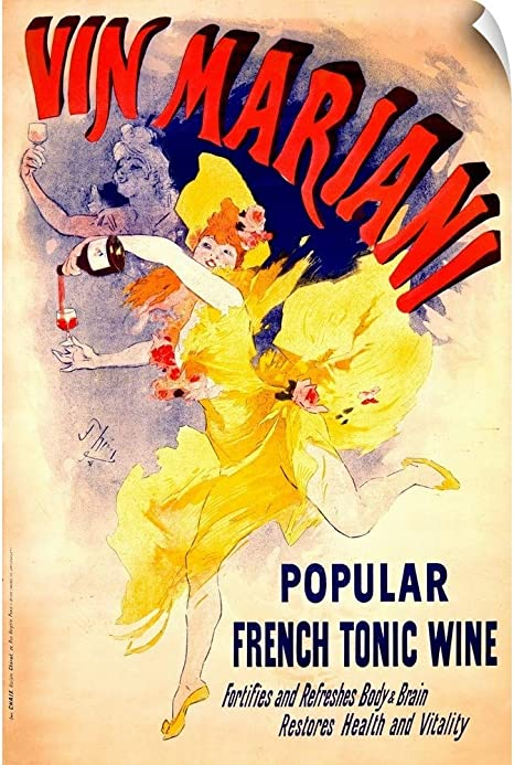 Vin Mariani Wine Home Decor Canvas Wall Art Print popular french tonic wine