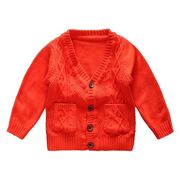 Amazon.com: eTree Little Boys tejer 100% algodón v cuello ...