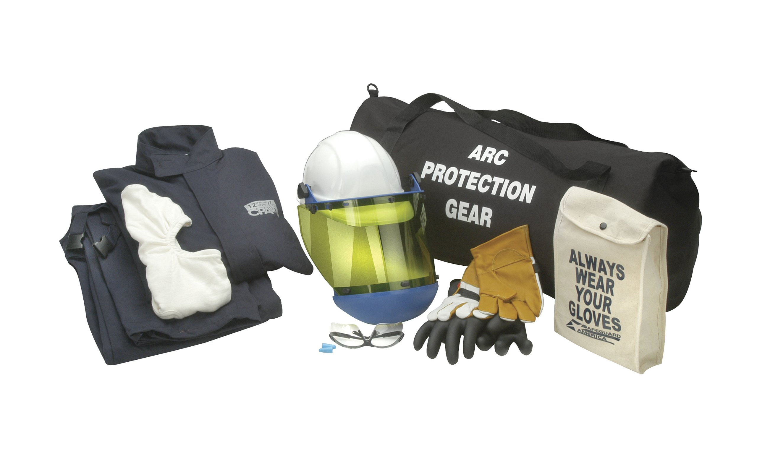 Chicago Protective Apparel Arc Flash Jacket & Bib Kit, 12 cal Large & Size 9