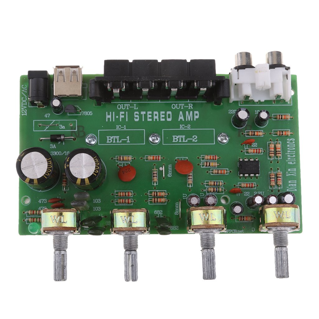 IPOTCH Stereo Verst/ärker Platine Digital Audio Verst/ärker DC 12-24 V13 x 10 x 4,5 cm