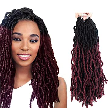 Amazoncom Fashion Idol 6 Bundles Of Synthetic Wavy Faux Locs