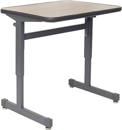 Smith System 01650BWKCGRPLT Silhouette Single Student Desk