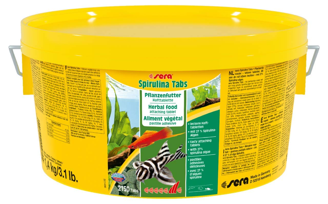 Sera 980 Spirulina Tabs 3.1 lb 1, 4 kg Pet Food, One Size
