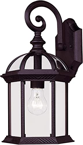 Savoy House 5-0633-BK, Kensington Wall Mount Lantern, Textured Black