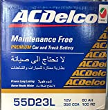 AC DELCO CAR BATTERY 55D23LMF 12V 60AH