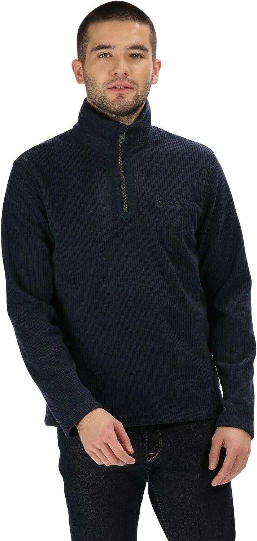 Regatta Mens Elgrid Half Zip Neck Walking Fleece Anti Pill Jacket Pullover Top