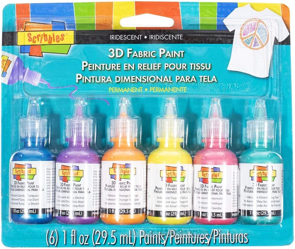 3D Fabric Paint – Crafting Paint for Fabric, Glass, Wood, and Other Uses – Comes in 3 Assorted Color Packs: Amazon.es: Juguetes y juegos