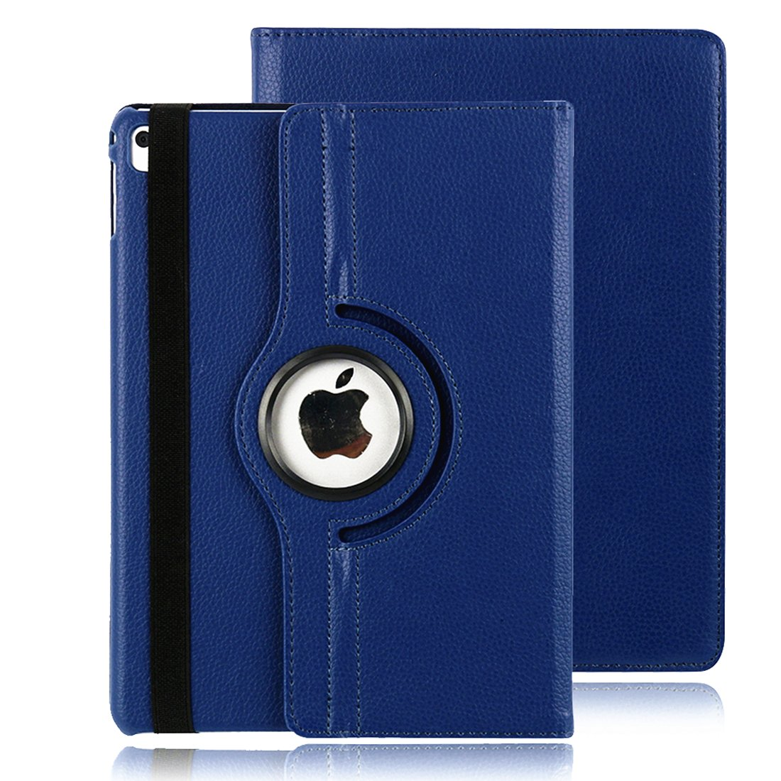 Xiaoai Apple iPad 2018 9.7/2017 9.7/iPad Air 2/iPad Air 9.7 inch Case,360 Degrees Rotating Multi Angles Screen Protective Stand with Auto Sleep/Wake Smart Cover (Blue)