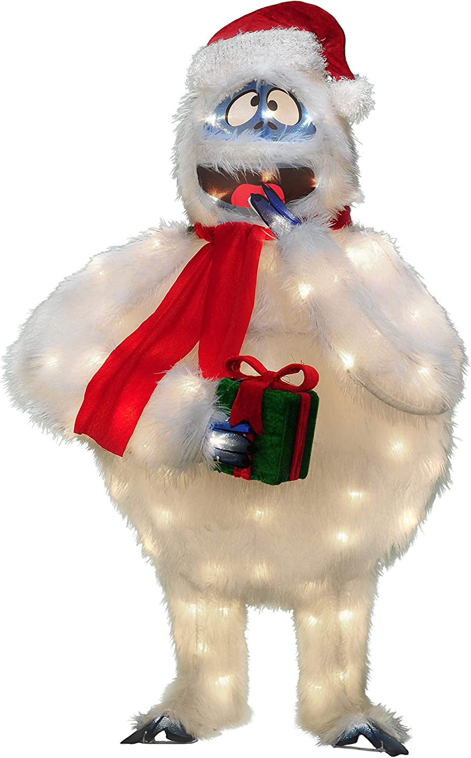 """32"""" Rudolph 3d Pre-Lit Yard Art Bumble With Present"""