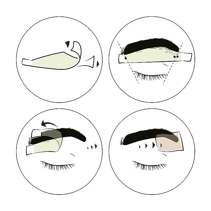 andmetics Brow Wax Strips Men - Patentada Eyebrow Cejas Cera fría, 12 unidades: Amazon.es: Belleza