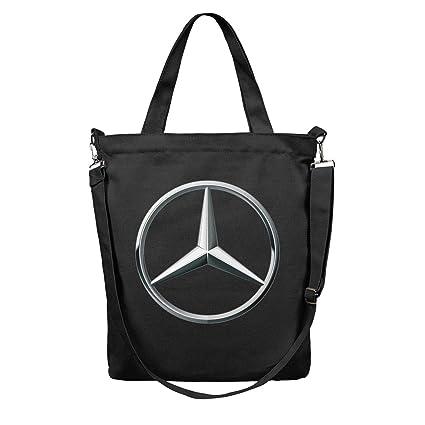 a9b3a9db3 Amazon.com: Women Tote Shopping Bag Mercedes Benz Logo Canvas ...