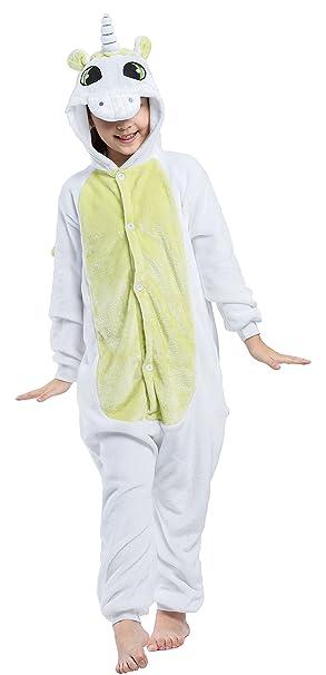 Pijama Unicornio Niño Niña Animal Cuerpo Entero Mujer Familiar Navidad Halloween Disfraz