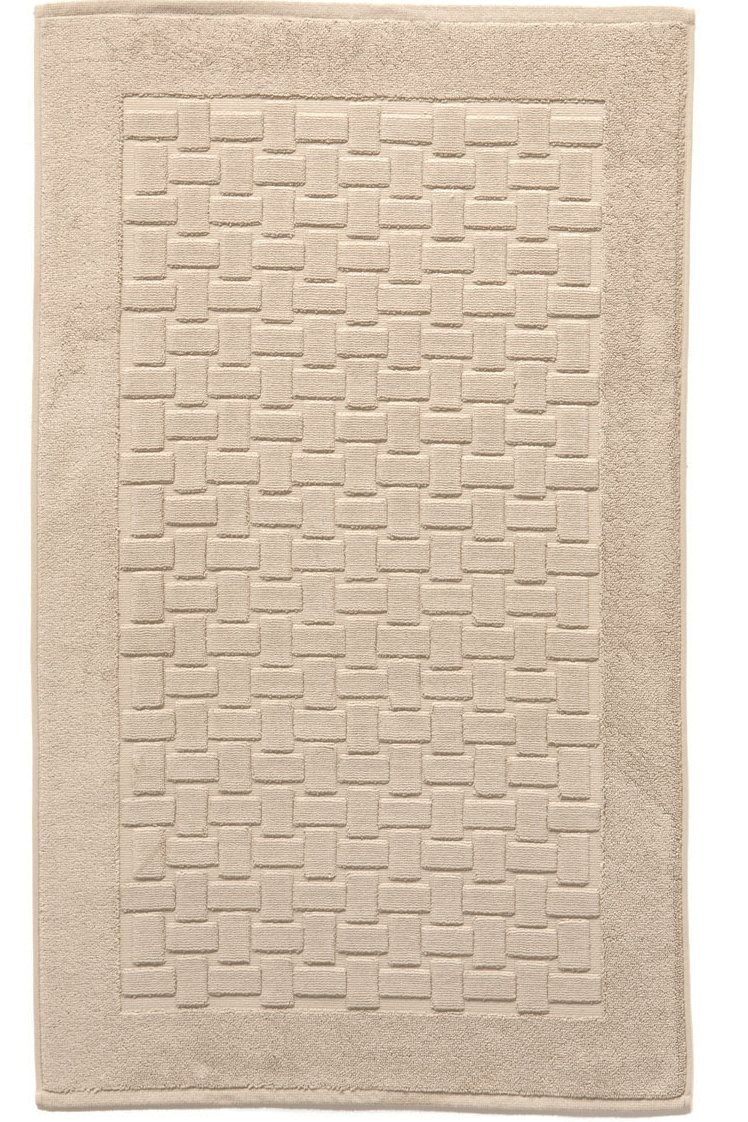 Casilin Ritz Combed Cotton Bath Mat 100 x 60 cm Sand Ourson