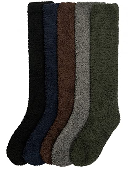 362010e91a330 Ladies Colorful Fleece/Plush Soft Knee High Socks Assorted 6 Pack