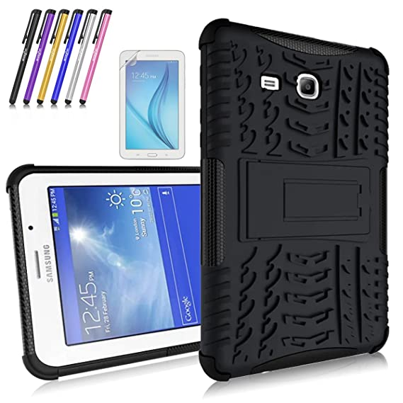 wholesale dealer f2c04 bee4e Windrew Heavy Duty Hybrid Protective Case with Kickstand Impact Resistant  For Samsung Galaxy Tab 3 Lite 7.0/Tab E Lite 7.0 SM-T110 T111 T113 + Screen  ...