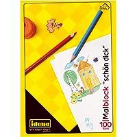 Idena 10390 - Kleurblok FSC-Mix, A4, 100 Vellen, Wit, 70 g/m², Mooi Dik, 1 Stuk