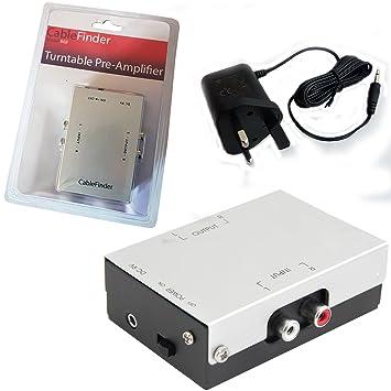 Amazon.com: Cablefinder Pre Amplificador RCA a RCA estéreo ...