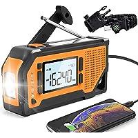 $36 » NOAA Emergency Weather Radio,Portable Solar Hand Crank AM/FM Radio 4 Power Sources…