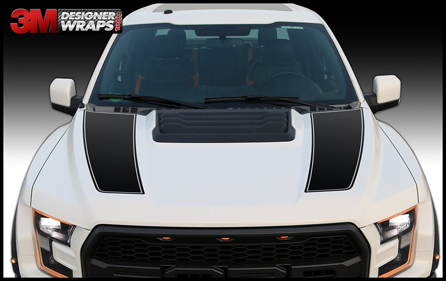 Amazon com ford raptor svt f150 hood vinyl graphics decals 17 2018 2019 install kit included automotive
